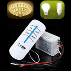 Wireless ABS 1 Way ON/OFF 220V Lamp Remote Control Switch Receiver Transmitter #