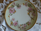 ANTIQUE IMPERIAL CROWN CHINA HAND PAINTED FLORAL WITH GOLD TRIM PLATE - AUSTRIA