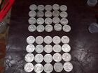 2 Rolls of Silver US Franklin Half Dollars Mixed Dates 20 Face Value 1951