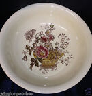 ROYAL CROWNFORD CHARLOTTE BROWN MULTICOLOR FLOWERS BOWL OR BASIN 15