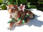 Fitz & Floyd Exotic Jungle Tiger Lidded Trinket Box