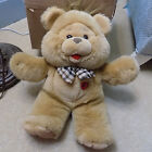 PLAY Tan Plush TEDDY BEAR Stuffed Animal Toy Light Up Heart