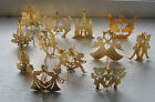 12 Danbury Mint gold plated  ornaments in box  1977 1980 and no dates