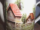 Vintage Japan   Maruri Teapot  Mountain, Fence Chimney,Cottage, Trees