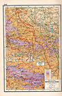 WWI MAP + ARTICLE & PICS WESTERN FRONT BATTLE OF THE ANCRE THIEPVAL TO COMBLES