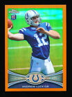 ANDREW LUCK 2012 TOPPS CHROME ORANGE REFRACTOR PARALLEL EDITION RC ROOKIE CARD