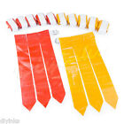 Red and Yellow Football Flag Set 12 Belts with 36 Flags 18 per color