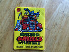 UNOPENED WAX PACK OF 1980 TOPPS WEIRD WHEELS STICKERS SOUPED UP AUTOMOBILES CARS