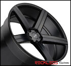 22 VARRO VD05 BLACK CONCAVE STAGGERED WHEELS RIMS FITS AUDI Q5 SQ5