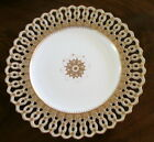 ANTIQUE RETICULATED RAISED GOLD BEADS COPELANDS CABINET PLATE