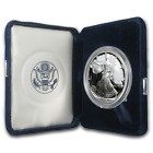 1995 P 1 oz Proof Silver American Eagle w Box  COA SKU 1069