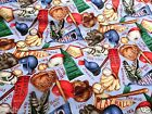 BASEBALL FABRIC COTTON FABRIC BTY BASEBALLS BATS MITTS PLAY BALL FREE SHIPPING