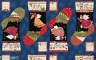 ANGELS FABRIC PANEL CHRISTMAS FABRIC ANGELS FROM ABOVE stocking fabric FREE SHIP