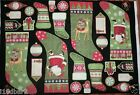 DEBBIE MUMM FABRIC PANEL CHRISTMAS FABRIC stocking fabric SANTAS GIFTS FREE SHIP