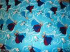 FROZEN FABRIC SISTERS ice skating TOSS glitter DISNEY FABRIC FREE SHIPPING BTY