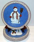 Sakura Snowman Salad Plates by Debbie Mumm - Set of 4