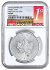 2016 Canada 5 1 Oz Silver Maple Leaf NGC MS69 First Day of Issue SKU38380