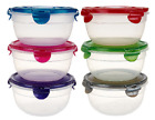 Lock  Lock 6 piece Bowl Set w 6 Holiday Gift Bags K42529 Multi Color Set
