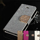 Bling iphone 5 5s 6 for apple Flip Magnetic Leatherette Stand Wallet Case Cover