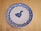 Tienshan Folk Craft ANIMALS Blue Sponge Set of 2 Dinner Plates Duck and Cow