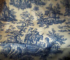 Waverly Fabric Blue Toile Country Life Weekend Collection French Pastoral 1Yard