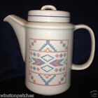 OTAGIRI JAPAN FIGI GRAPHICS COFFEE POT 44 OZ PINK BLUE PURPLE AZTEC DESIGN