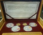 2008 CHINA BEIJING OLYMPIC GAMES GOLD AND SILVER 6-COIN SET (series I)