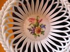 NEW Herend China Porcelain Flower Bouquet Woven Basket 7372/ST 7372 Handpainted