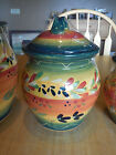 Tabletops Gallery LA PROVINCE Small Canister Orange Green or Lid Only