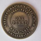 VINTAGE ROYAL ARCH MASON ONE PENNY COIN