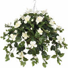 House of Silk Flowers Inc. Artificial Hibiscus Hanging Plant in Beehive Basket