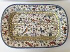 William Sonoma Nazari Serving Platter Hand Painted Art Pottery 23