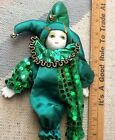 Jester Doll- 8 Inch  New Orleans Mardi Gras Souvenir Caught At a Mardi Gras