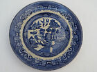 Antique Staffordshire Blue Willow Plate England Semi China OLD 8-3/8