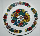 Vintage HOLLOHAZA Hungarian porcelain 60's Plate Floral Flowers Signed Numbered