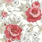 ARTHOUSE OPERA LUXURY CASSI HAND PAINTED FLORAL FLOWER BLOOM WALLPAPER ROLL RED