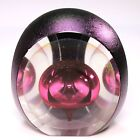 Tom Philabaum's Purple w/Gold 3 Sided Paperweight - AMAZING