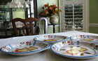 China Royal Norfolk Fruits Berries Set of 8- 4 Plates 4 Bowls White w Multicolor