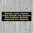 New HOLLOW POINTS gun rights BUMPER STICKER decal tea party 2nd Amendment NRA