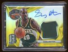 2014-15 SPECTRA GARY PAYTON AUTO #D 10 GOLD REFRACTOR PATCH LOGO ON CARD AUTO !