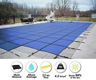 GLI 20 x 40 Rectangle BLUE MESH In Ground Swimming Pool Safety Cover w 4x8 Step