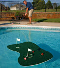 SWIMMING POOL FLOATING PRACTICE GOLF TEE CLUBS GAME w GREEN BALLS