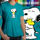 Snoopy Hug Woodstock Cute Peanuts Love Friendship Mens Unisex Tee V Neck T Shirt