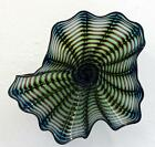 HAND BLOWN GLASS ART WALL PLATTER BOWL 6743 ONEIL