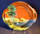 Noritake Windmill Bowl With Handles, Hand Painted Vivid Colors, Japan