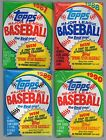 1987 1988 1989 1990 Topps Mixed Wax Packs Total 36 Unopened From Box