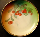 ANTIQUE~LATE 1800'S~ HUTSCHENREUTHER BAVARIA~SIGNED HAND PAINTED PLATE~CHERRIES