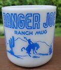 VINTAGE BLUE  HAZEL ATLAS RANGER JOE RANCH MUG