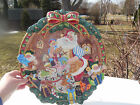 Fitz & Floyd Santa's Magic Workshop 1996 Large Round Serving Platter 16.5