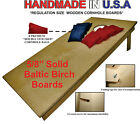 UNFINISHED CORNHOLE BOARDS BEANBAG TOSS GAME SET w